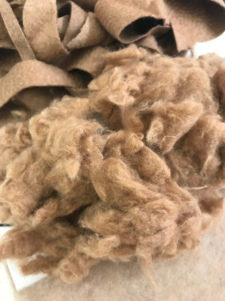 CAMELUXE® Garnetted camel scraps