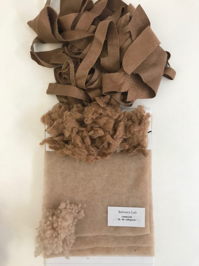 CAMELUXE® upcycled insulation made of recovered camelhair