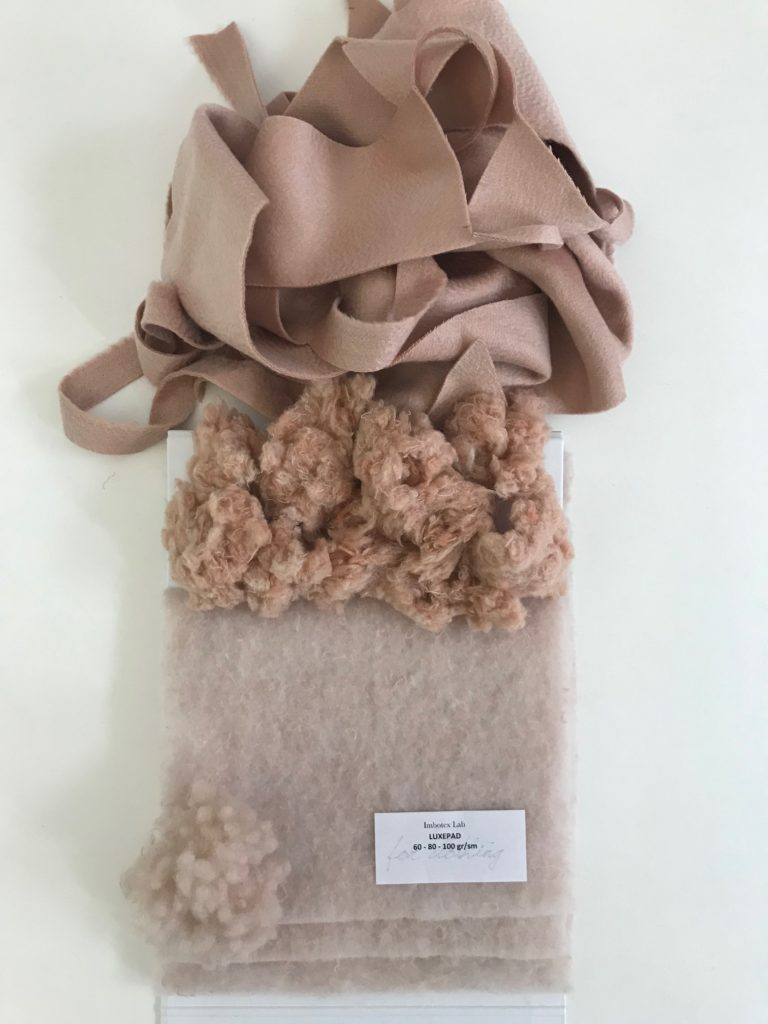 LUXEPAD® upcycled insulation made of recovered cashmere