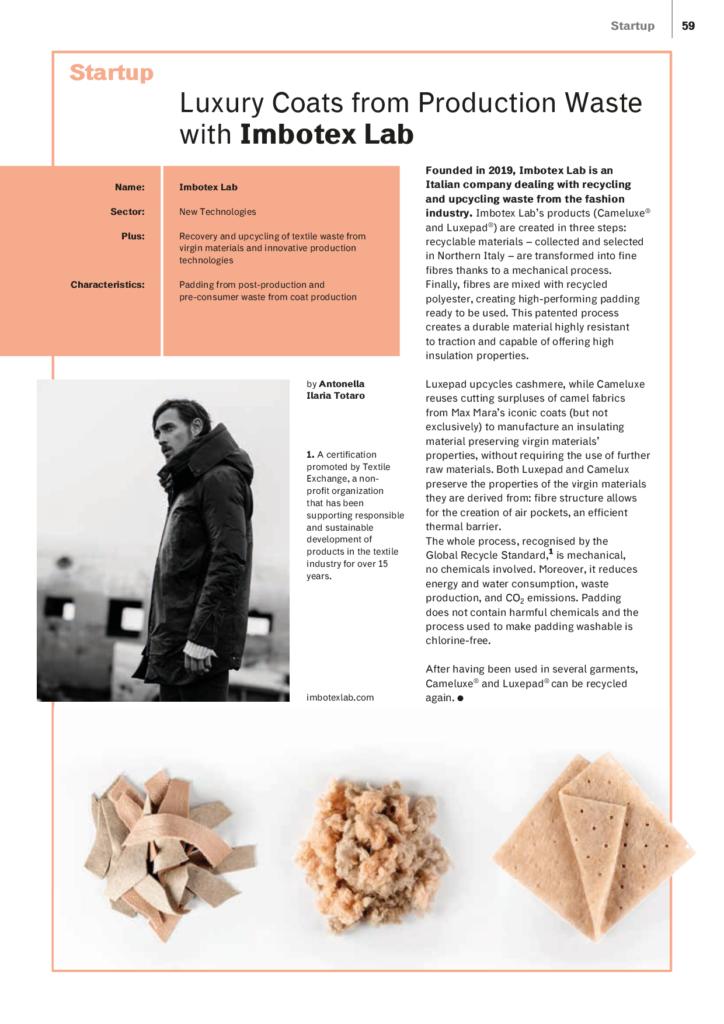imbotexlab article by Materia Rinnovabile magazine